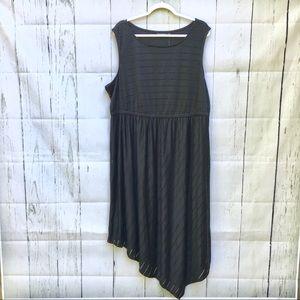 Apt 9 Maxi Dress Black Sheer Stripe Sundress Lined